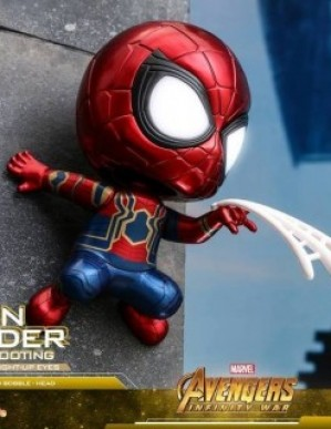 Hot Toys Avengers Infinity War Iron Spider Web Shooting Cosbaby Bobble Head