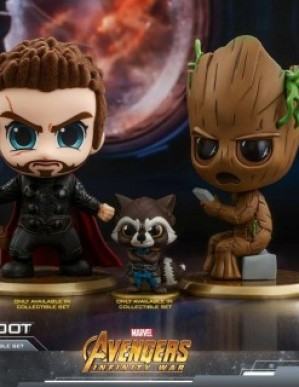 Hot Toys COSB444 Avengers: Infinity War Thor Rocket and Groot Cosbaby Set