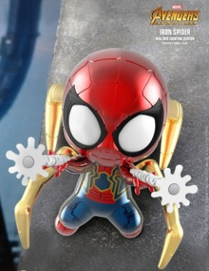 Hot Toys AVENGERS: INFINITY WAR Iron Spider Dual Web Shooting Cosbaby