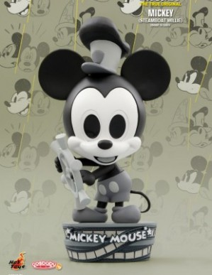 Hot Toys MICKEY MOUSE 90TH ANNIVERSARY MICKEY STEAMBOAT WILLIE COSBABY