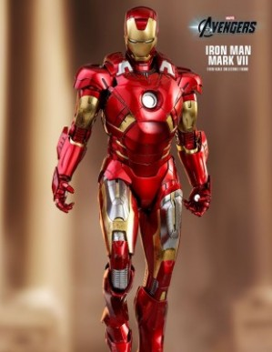Hot Toys THE AVENGERS IRON MAN MARK VII 1/6TH Scale Diecast Figure