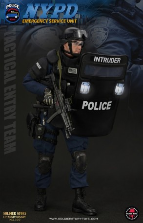 Soldierstory Nypd Esu Tactical Entry Team 1 6th Scale