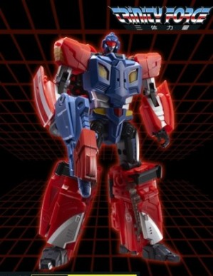 TFC Toys Trinity Force TF-02 Red Knight 3rd Party Robot Figure