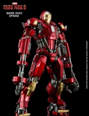 King Arts Iron Man MK35 Red Snapper 1/9TH Scale Diecast Figure