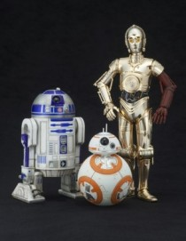 Star Wars The Force Awakens C-3PO R2-D2 and BB-8 Artfx+ 1/10 Scale Statue Set