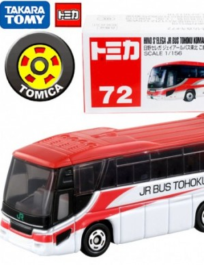 Takara Tomy Tomica #72 Hino Selega JR Tohoku Komachi Color Diecast Model Car